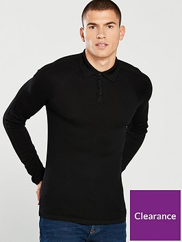 river-island-muscle-fit-polo-shirt-black