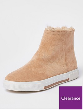 river-island-river-island-fur-lined-high-top-trainers-beige