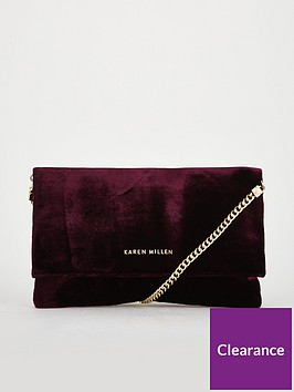 karen-millen-velvet-clutch-bag