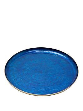 monsoon-blue-metal-tray