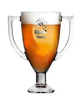 Very Trophy Shaped Pint Glass Picture