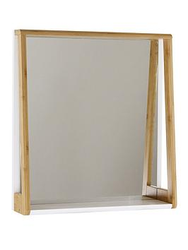Lloyd Pascal Lloyd Pascal Denver Bathroom Mirror With Shelf - Natural  ... Picture