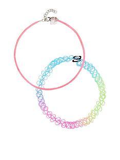 mini-v-by-very-girls-choker-necklaces--nbspmulti-colourednbsp