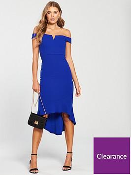 ax-paris-blue-notch-front-dip-hem-dress