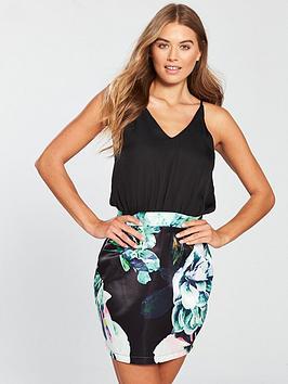 ax-paris-floral-printed-2-in-1-dress