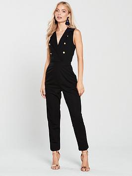 ax-paris-blazer-front-jumpsuit--black