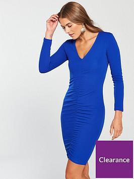 ax-paris-ruched-front-bodycon-midi-dress