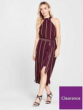 ax-paris-petite-pin-striped-overlay-dress-plumnbsp