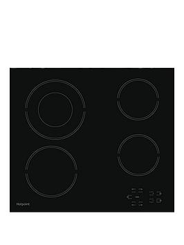 Hotpoint Hotpoint Hr612Ch 60Cm Wide Built-In Ceramic Hob - Black - Hob Only Picture