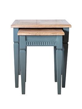 Hudson Living Hudson Living Bronte Nest Of Tables - Blue Picture