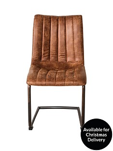 hudson-living-pair-of-edingtonnbspfaux-leather-dining-chairs-brown