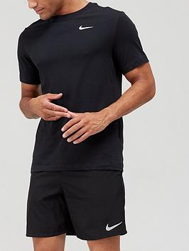 Nike Nike Solid Crew Neck Training T-Shirt - Black Picture