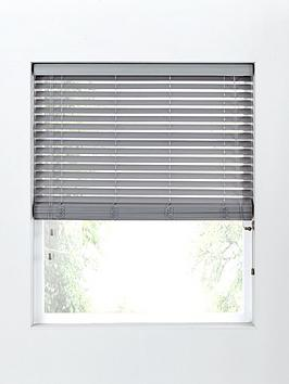 Very Made To Measure 50Mm Wooden Blinds In Grey Picture