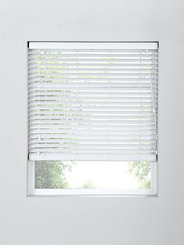 Very Made To Measure 50Mm Wooden Blinds In White Picture