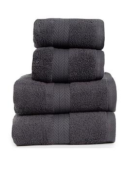 essentials-collection-4-piece-100-cotton-450-gsm-quick-dry-towel-bale-dark-grey