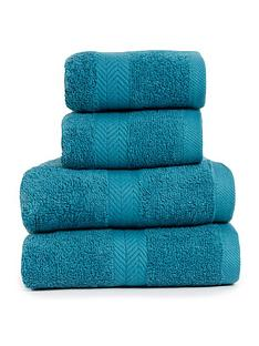 essentials-collection-4-piece-100-cotton-450-gsm-quick-dry-towel-bale-ndash-teal