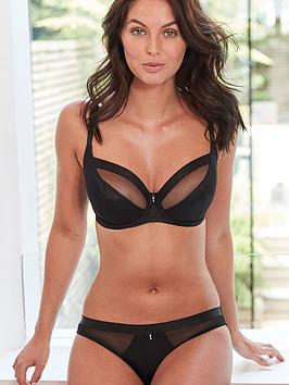 Pour Moi Pour Moi Luxe High Leg Brief - Black Picture