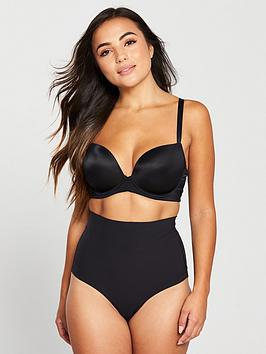 Pour Moi   Waisted Shaping Thong - Black
