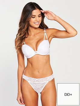 03c51a84b5a Ann Summers Sexy Lace Plunge Bra - White | littlewoods.com