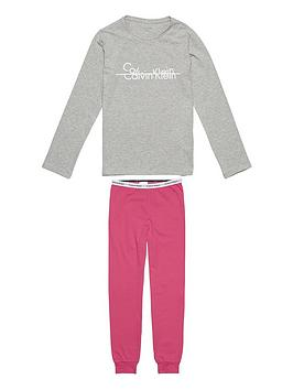 calvin-klein-girls-logo-cuffed-pj-set