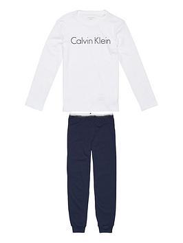 calvin-klein-boys-logo-cuffed-pj-set