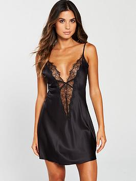 Ann Summers   Cherryana Chemise Night Dress - Black