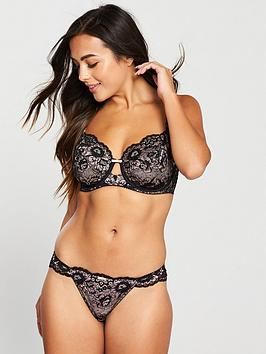Pour Moi Pour Moi Opulence Brazilian Brief - Black/Pink Picture