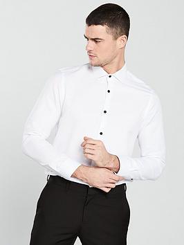 v-by-very-cut-away-collar-textured-shirt