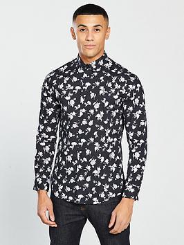 v-by-very-long-sleeved-stretch-poplin-floral-shirt