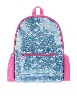 accessorize-girls-glitter-unicorn-print-backpack-blue