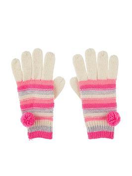accessorize-girls-striped-pomnbsppom-gloves-multi