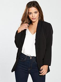 v-by-very-petite-lace-trim-tailored-jacket-black