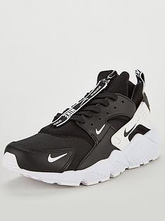 Nike Air Huarache Run PRM Zip Trainers - Black 75cb8dc85