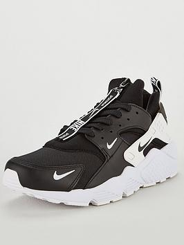 912a2091f590 Nike Air Huarache Run PRM Zip Trainers - Black