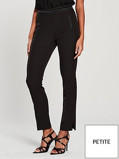 v-by-very-petite-lace-trim-tailored-trouser-black