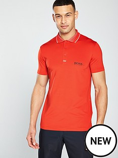 boss-golf-pauletech-pro-polo-orange
