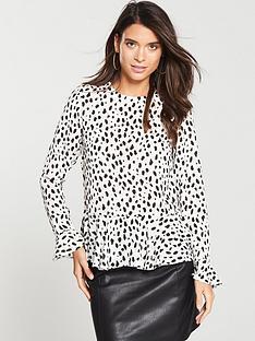 v-by-very-ruffle-peplum-blouse--nbspanimal-printnbsp