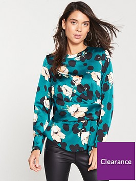 v-by-very-satin-long-sleeved-blouse-animal-print