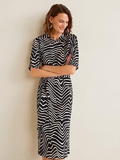 mango-zebra-print-midi-dress-blackwhite