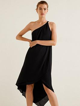 mango-amilia-asymmetric-one-shoulder-dress-black