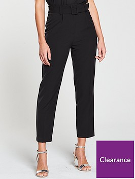 miss-selfridge-paperbag-trouser-blacknbsp