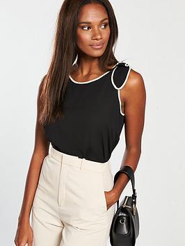 mango-bow-shoulder-sleeveless-top