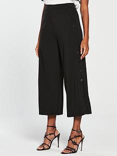 mango-button-side-wide-leg-cropped-trouser-blacknbsp