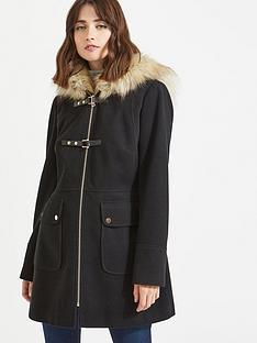 miss-selfridge-duffle-coat-black