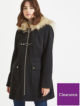 miss-selfridge-duffle-coat-black