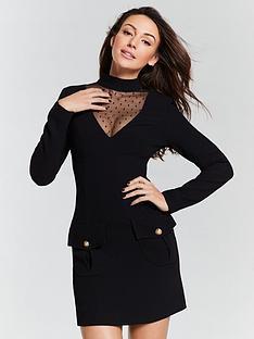 michelle-keegan-mesh-yoke-shift-dress-blacknbsp