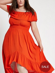 ri-plus-bardot-maxi-dress-red