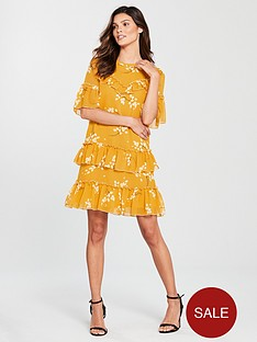 river-island-print-swing-dress-yellow
