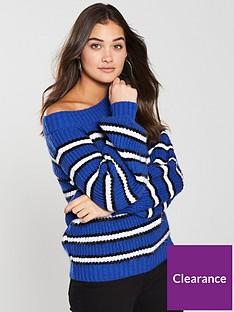 v-by-very-bardot-stripe-jumpernbsp--blue
