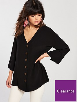river-island-button-front-blouse-black